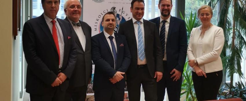 Osztrák delegáció szakmai látogatása a Miskolci Jogi Karon